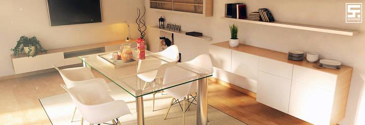 Dining room by SF Render, Modern