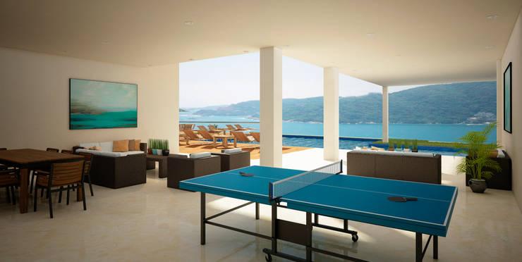 Casa en Acapulco: Pasillos y recibidores de estilo  por Citlali Villarreal Interiorismo & Diseño