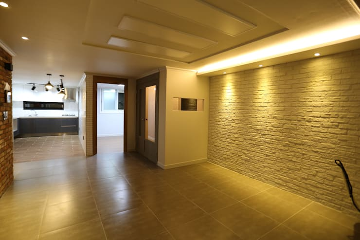반지대동 그린파크 : 디자인세븐의  거실