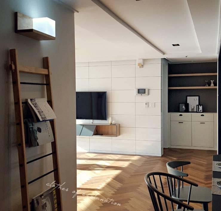 우만동 월드메르디앙 39평: JMdesign 의  다이닝 룸