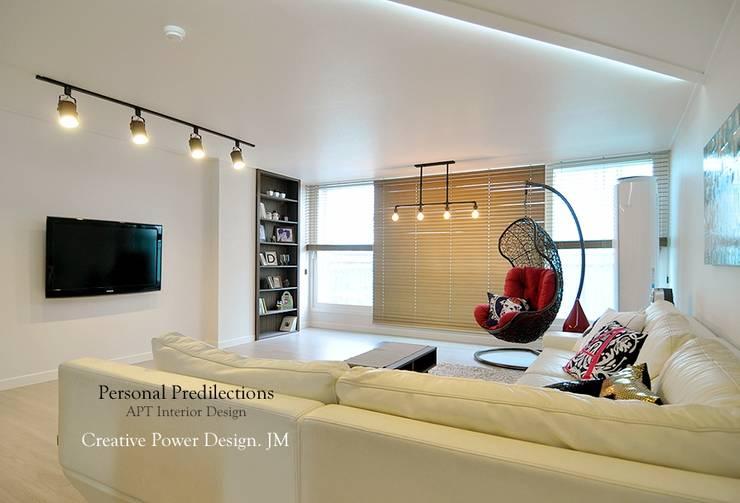 안산신길휴먼빌: JMdesign 의  거실