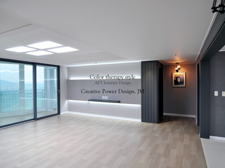 망포마을 망포자이 55평: JMdesign 의  거실