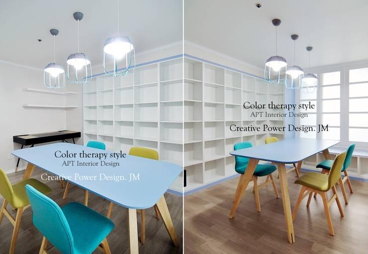 망포마을 망포자이 55평: JMdesign 의  서재 & 사무실