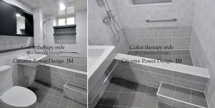 망포마을 망포자이 55평: JMdesign 의  욕실