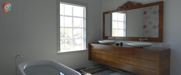 modern Bathroom by contato.estudiodobra