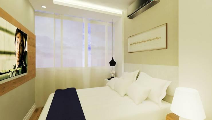 moderne Slaapkamer door Isadora Cabral Arquitetura