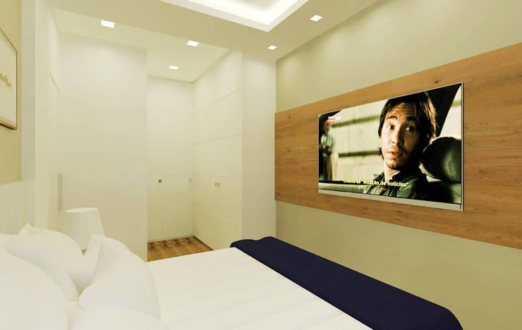 Isadora Cabral Arquitetura: modern tarz Yatak Odası