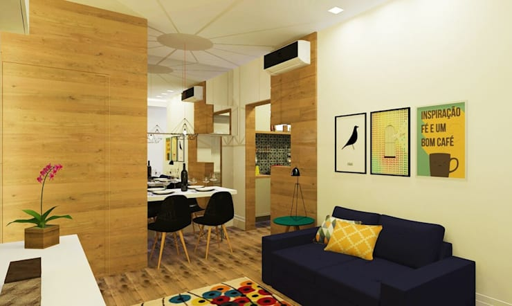 moderne Woonkamer door Isadora Cabral Arquitetura