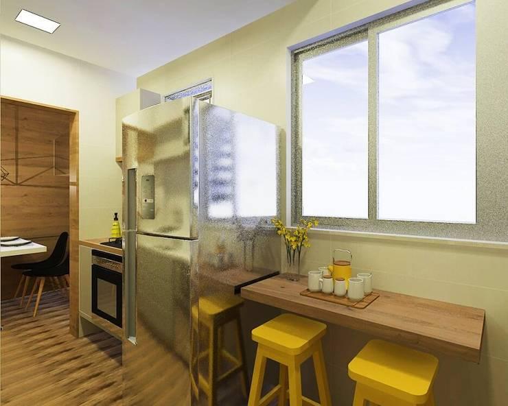 moderne Keuken door Isadora Cabral Arquitetura