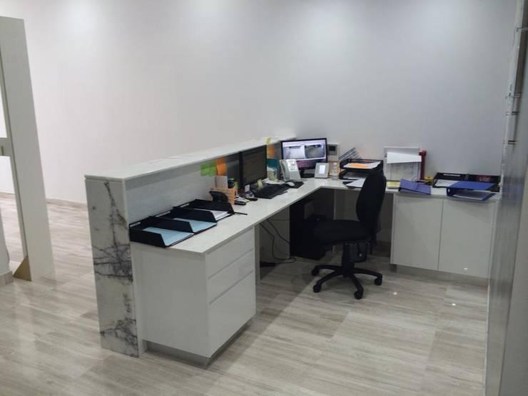 oficina: Oficinas y tiendas de estilo  por Diego Palestina