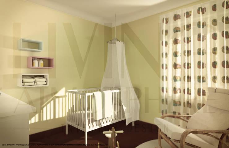 O quarto da Eva: Quartos de criança  por Living Atmosphere Kids