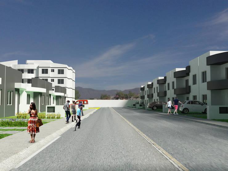 Fraccionamiento Villas del Rincon de zerraestudio Minimalista