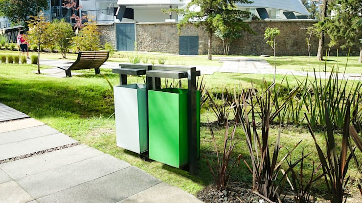 Depósitos de desechos Toluca: Jardín de estilo  por Diseño Neko