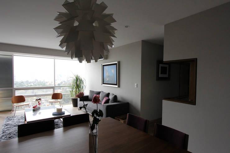 Penthouse SENS: Salas de estilo  por ARCO Arquitectura Contemporánea