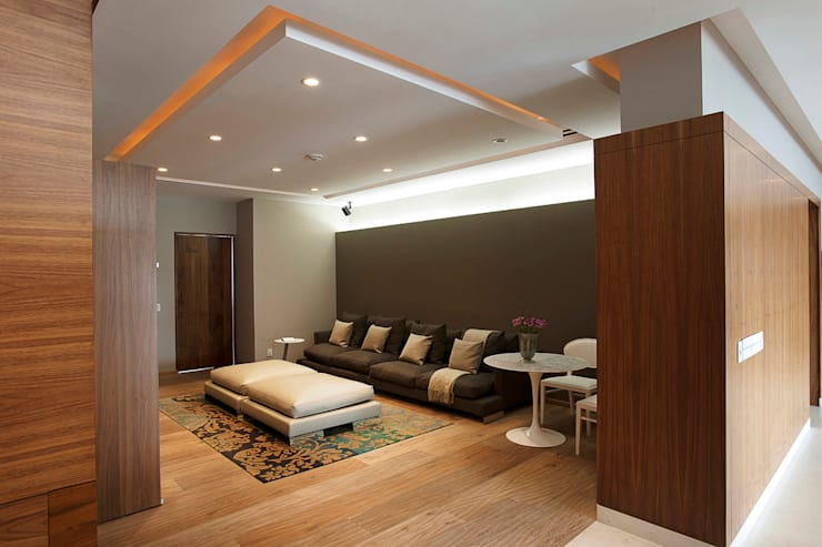 Ruang Keluarga Modern Oleh ARCO Arquitectura Contemporánea Modern