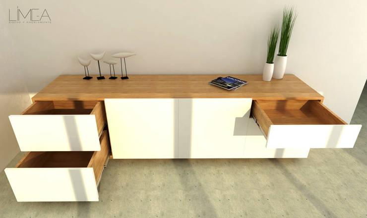 Serie de modulares minimalistas: Livings de estilo  por Límea