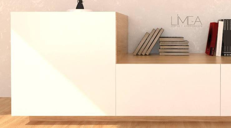 Serie de modulares minimalistas de Límea Minimalista Madera Acabado en madera