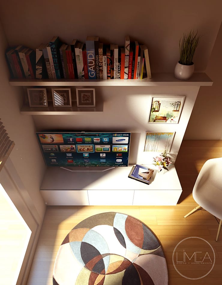 Rack de TV: Livings de estilo  por Límea,