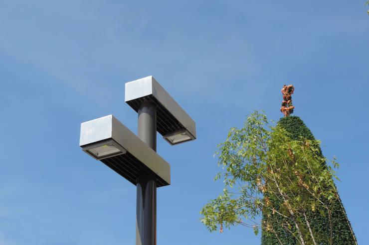 Detalle Luminaria Oaxaca: Jardín de estilo  por Diseño Neko