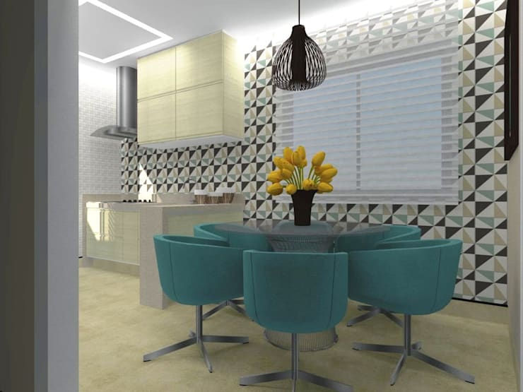 Cocinas de estilo moderno por Nádia Catarino - Arquitetura e Design de Interiores