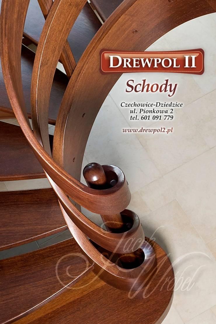Schody Drewpol II: styl , w kategorii Korytarz, przedpokój zaprojektowany przez Drewpol II,Klasyczny Drewno O efekcie drewna