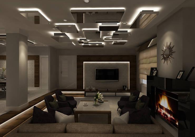 PRATIKIZ Mimarlık/ Architecture – Salon:  tarz İç Dekorasyon