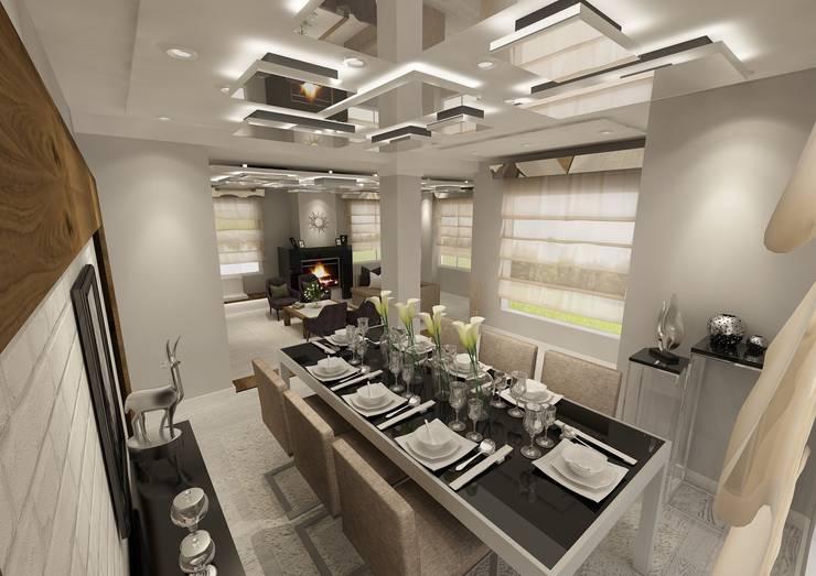 PRATIKIZ Mimarlık/ Architecture – Yemek Odası: modern tarz Yemek Odası