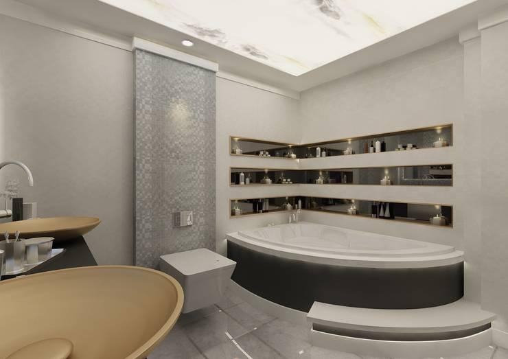 PRATIKIZ Mimarlık/ Architecture – Banyo:  tarz Banyo