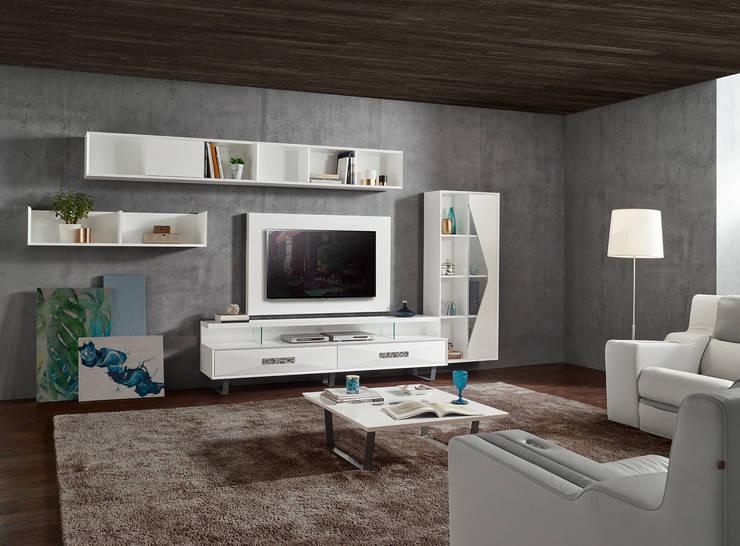 Mobiliário de Salas de estar Furniture of Living rooms www.intense-mobiliario.com  Etrana http://intense-mobiliario.com/product.php?id_product=10585: Sala de estar  por Intense mobiliário e interiores;