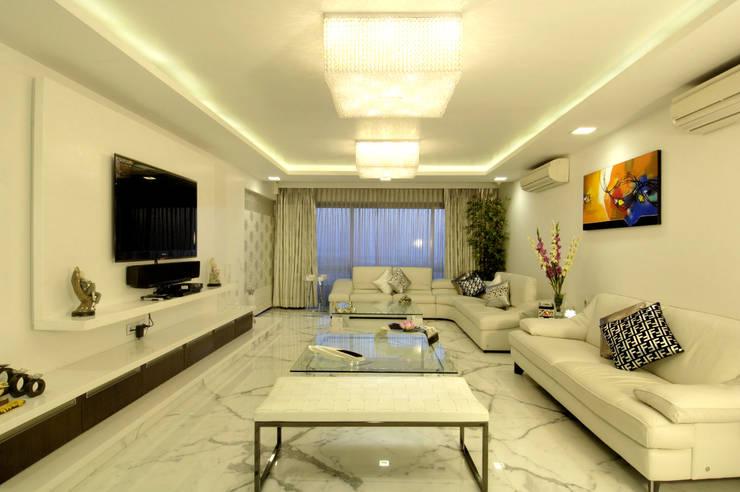 ARK Reza Kabul Architects Pvt. Ltd.의  거실