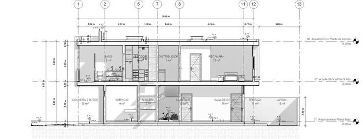 La Casa Osmio:  de estilo  por Muret Studio
