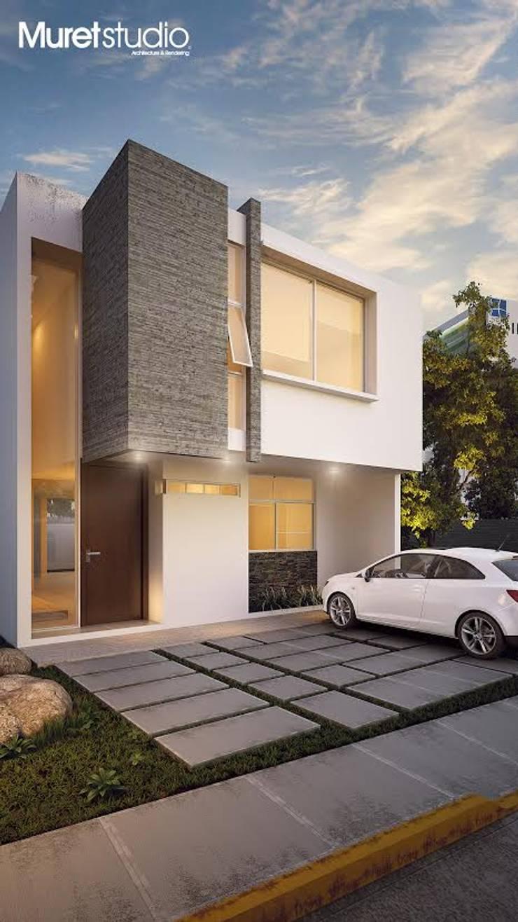 La Casa Osmio: Casas de estilo  por Muret Studio