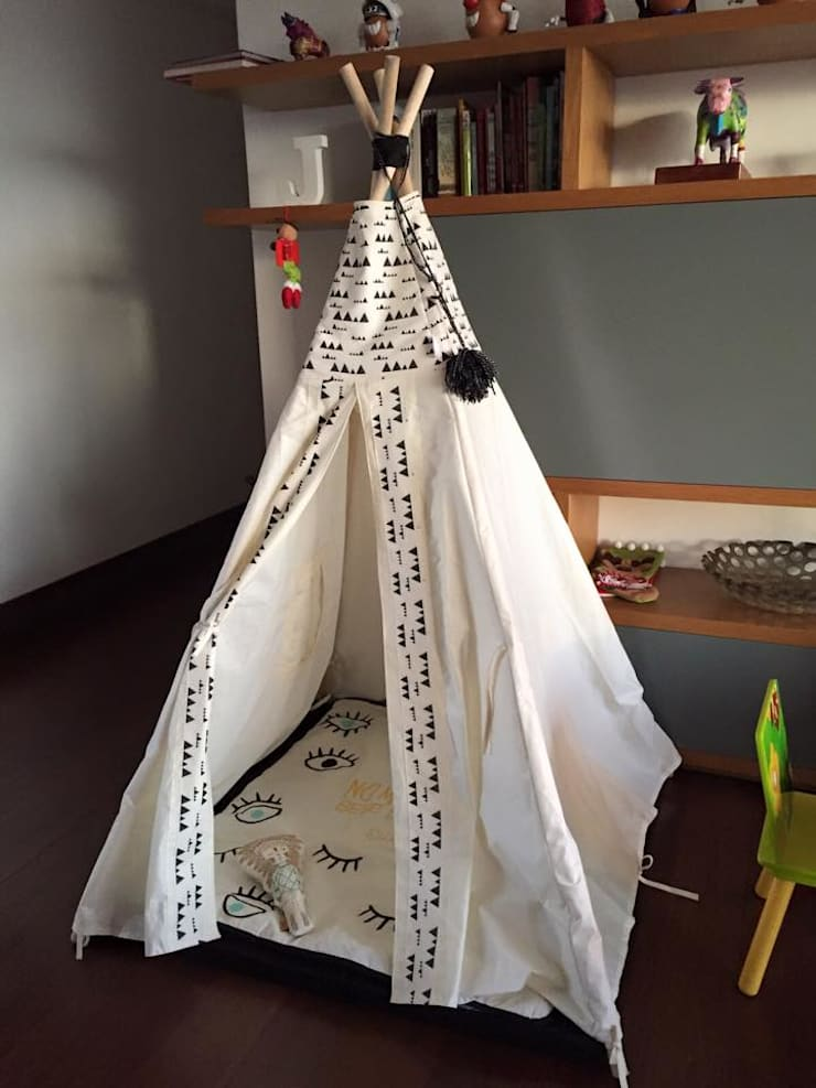 Teepee & Textiles: Dormitorios de estilo  por Maka concept,