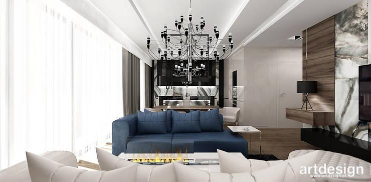 LOOK #33 | Apartament: styl , w kategorii Salon zaprojektowany przez ARTDESIGN architektura wnętrz,Nowoczesny