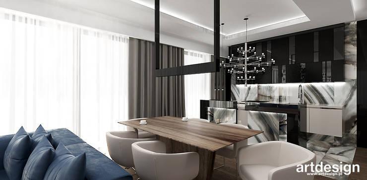 LOOK #33 | Apartament: styl , w kategorii Jadalnia zaprojektowany przez ARTDESIGN architektura wnętrz,Nowoczesny