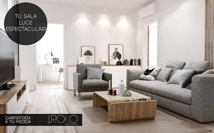Iroko Wood Design: Salas de estilo  por Iroko Wood Design