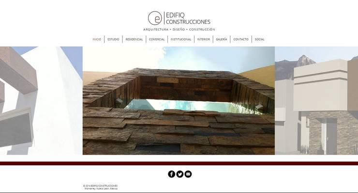 Edifiq Construcciones:  de estilo  por Edifiq Construcciones