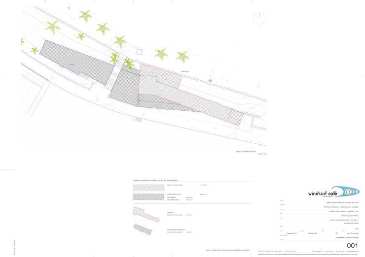 Implantação: Espaços de restauração  por Pedro Ferro Alpalhão Arquitecto