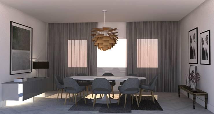 DINNING ROOM : Salas de jantar  por Santiago | Interior Design Studio