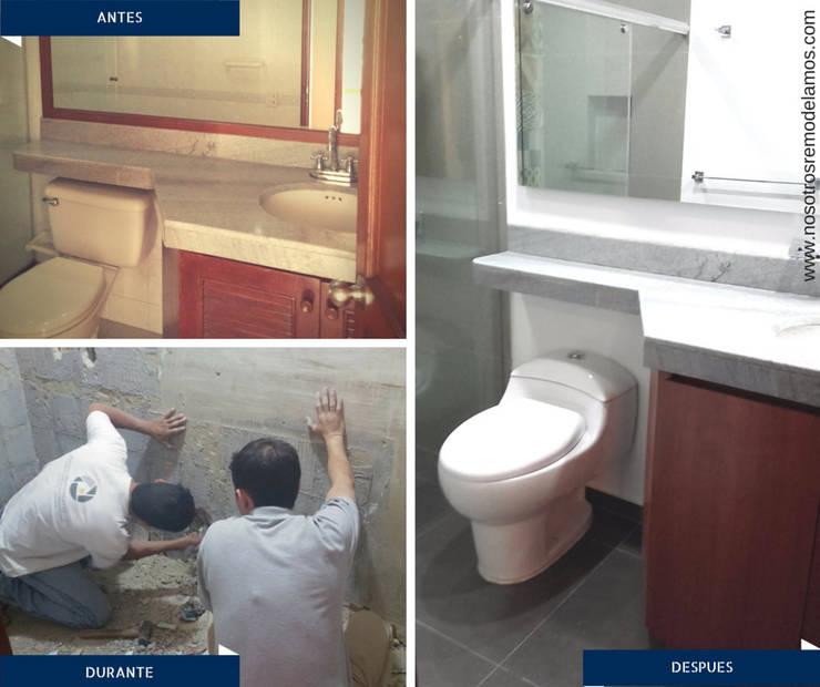 Proyectos Remodelación: Baños de estilo  por Nosotros Remodelamos