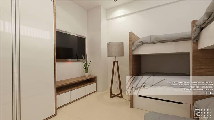 Apartamento de Tucacas: Cuartos de estilo moderno por Arq.AngelMedina+