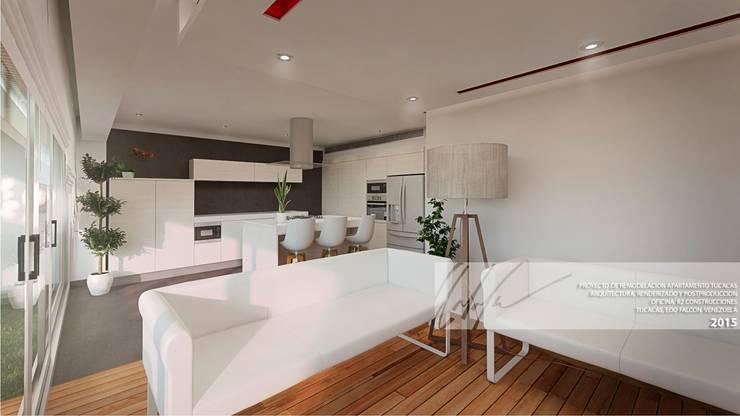 Apartamento de Tucacas: Salas / recibidores de estilo moderno por Arq.AngelMedina+