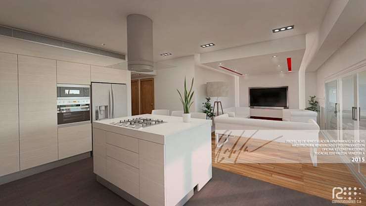 Apartamento de Tucacas: Cocinas de estilo moderno por Arq.AngelMedina+