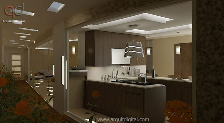 Proyectos: Cocinas de estilo moderno por Arquitdigital