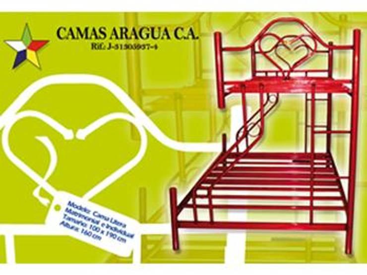 Camas: Dormitorios de estilo  por Camas Aragua, c.a.