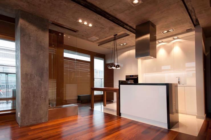 19 Dzielnica: styl , w kategorii Kuchnia zaprojektowany przez FusionDesign,Nowoczesny Beton