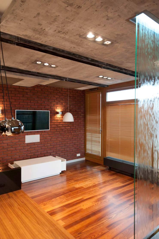 19 Dzielnica: styl , w kategorii Salon zaprojektowany przez FusionDesign,Nowoczesny Beton