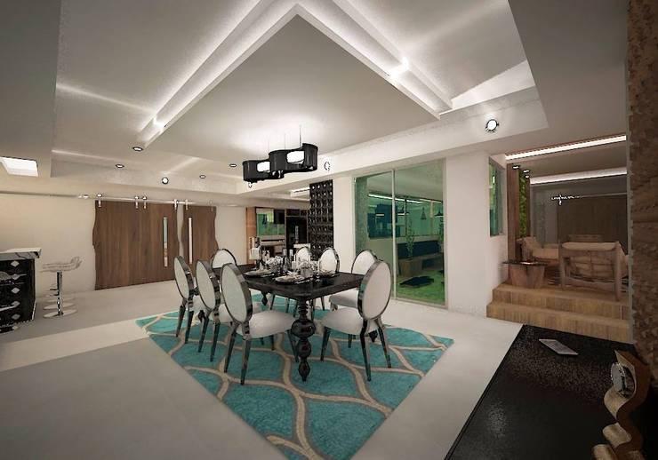 projeto: Salas de jantar modernas por Studio BRAVO!