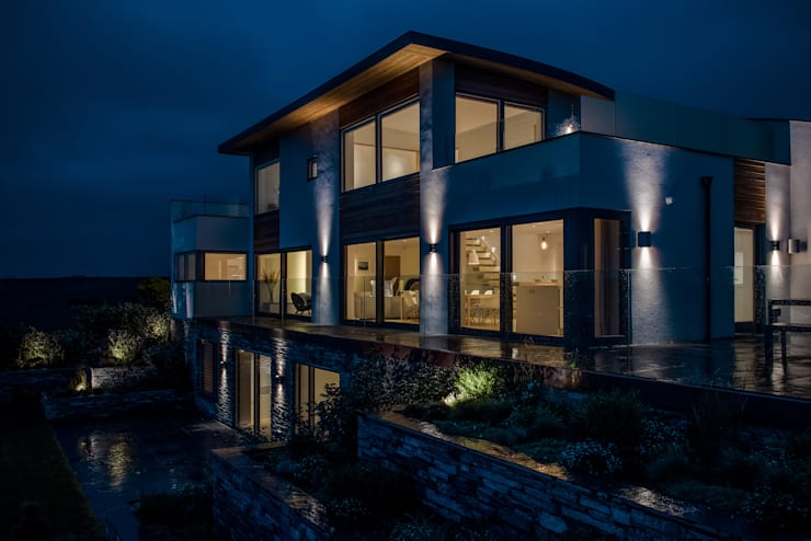 New Contemporary House, Polzeath, Cornwall: modern Houses by Arco2 Architecture Ltd