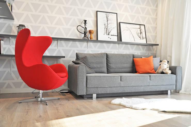 Metamorfoza: styl , w kategorii Salon zaprojektowany przez Nidus Interiors Dominika Wojciechowska,Nowoczesny